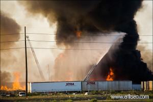 SLC Junkyard Fire
