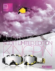 Justin Dorey - Scott USA Ad - Freeskier Magazine - December 2008
