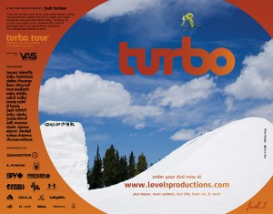 "Level 1 Productions ""Turbo"" ad - Freeskier Magazine - January 2009"