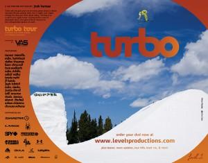 """Level 1 Productions """"Turbo"""" ad - Freeskier Magazine - January 2009"""