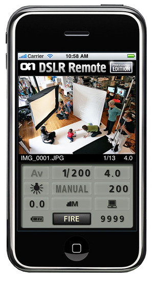 onOne DSLR Camera Remote for iPhone and iPod Touch