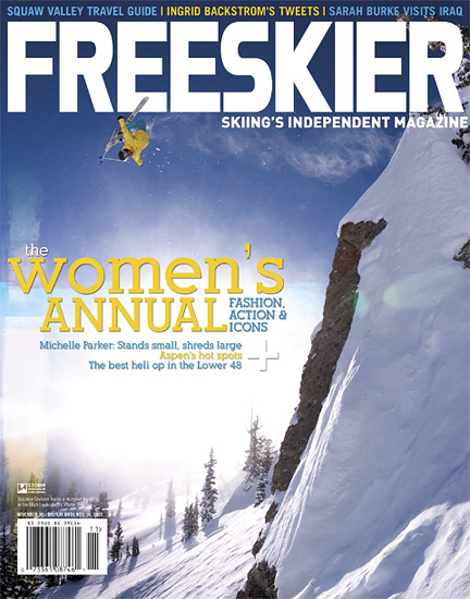November 2009 - Freeskier Magazine - Suzanne Graham - Alta, Utah