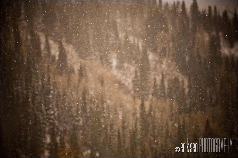 The early snowfall at Alta, Utah