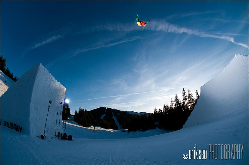 CR Johnson jumping a 115 foot channel gap jump at Mt. Hood Ski B