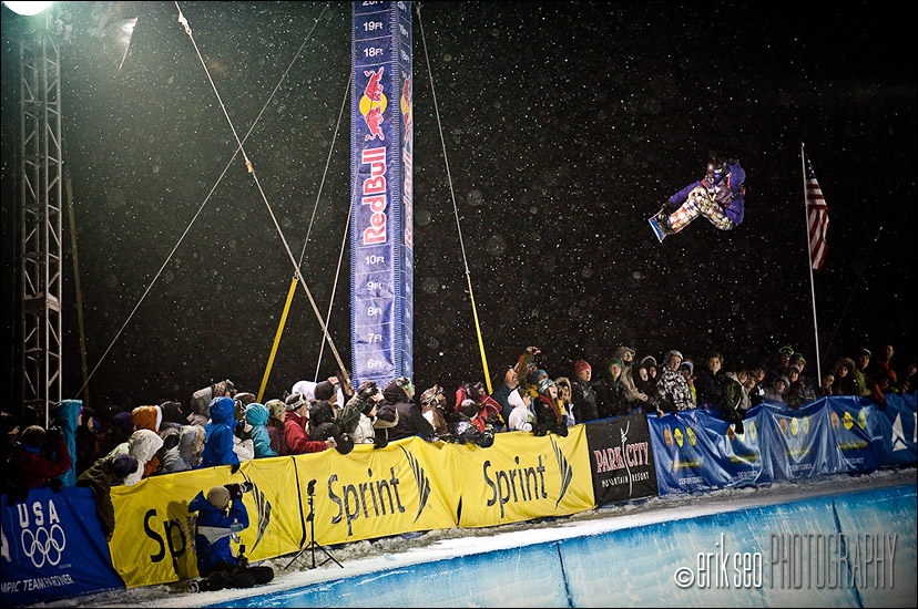Kelly Clark, blasting as usual