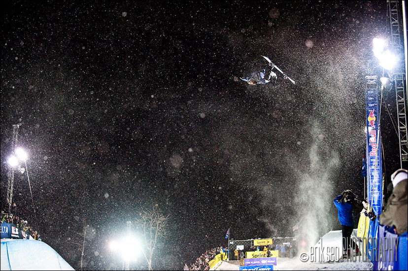 Shaun White, first hit on his victory lap