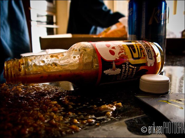 Yummy.  Scott sauce found in the AM