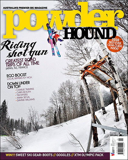2010 Powderhound Magazine cover - Skier: Anna Segal - Location: The Canyons Resort, Utah